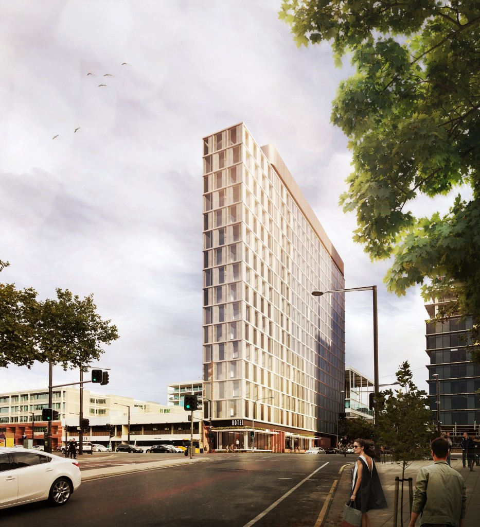 Micro-hotel Adelaide - Main Building Render