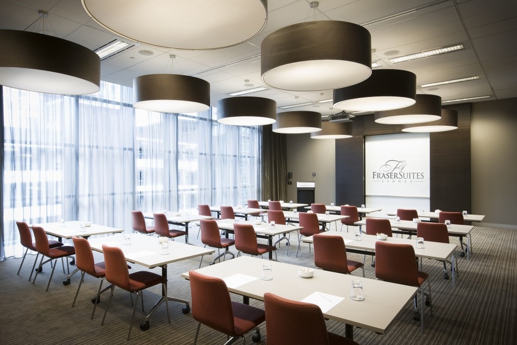 Fraser Suites Sydney can accommodate large scaled events with catering for up to 140 delegates